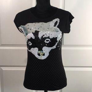 Zara Sequined Fox Tee
